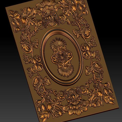 12.jpg Download free STL file pack of frame cnc art for home decoration renaissance style • 3D print object, STLmodelforfree