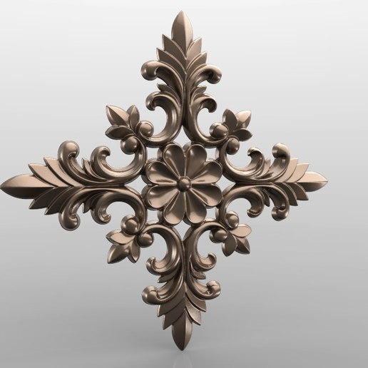 Download free 3D printer designs Vintage mouldings for old classic apartments cnc art router machine 3D printed, STLmodelforfree