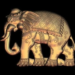 Download free STL file Elephant, STLmodelforfree