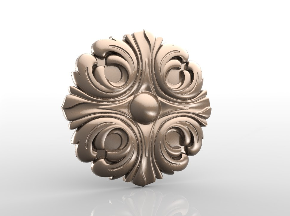 Rozetka_019.jpg Download free STL file Vintage mouldings for old classic apartments cnc art router machine 3D printed • Design to 3D print, STLmodelforfree