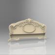Download free STL decoration renaissance bed, STLmodelforfree