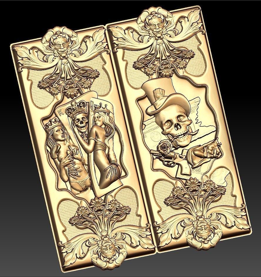 nardy13.jpg Download free STL file skull cnc art • Template to 3D print, STLmodelforfree