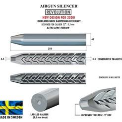 Télécharger fichier impression 3D Silencieux REVOLUTION calibre 22 250 mm, Swedish-silence