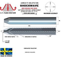 Télécharger plan imprimante 3D Silencieux à ondes de choc de calibre 22 295 mm, Swedish-silence