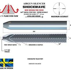 Télécharger modèle 3D Silencieux calibre d'onde de choc 177 295 mm, Swedish-silence