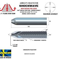 Télécharger fichier 3D Silencieux à ondes de choc calibre 22 195 mm, Swedish-silence