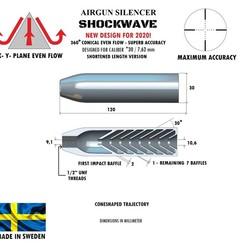 Télécharger fichier 3D Silencieux calibre d'onde de choc 30 120 mm, Swedish-silence