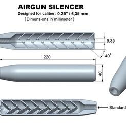 Télécharger objet 3D Silencieux pour pistolet à air comprimé, calibre supérieur 25, Swedish-silence