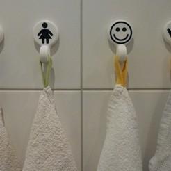1.jpg Télécharger fichier STL Crochet porte-serviette de salle de bain bicolore • Design imprimable en 3D, Swedish-silence