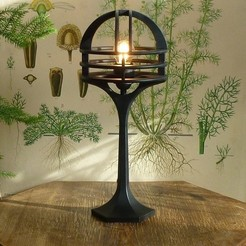 deco_lamp_1.jpg Download STL file Art deco table lamp • 3D printable design, Swedish-silence