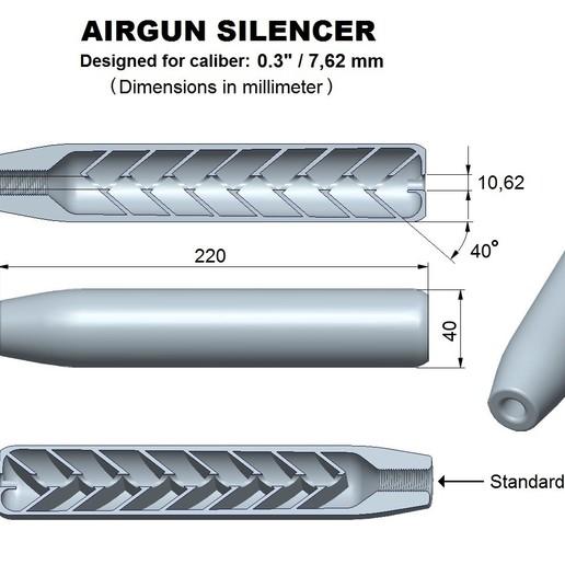 Download STL file Air gun silencer superior caliber 30, Swedish-silence
