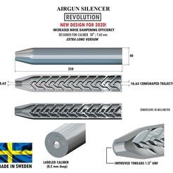Télécharger STL Silencieux REVOLUTION calibre 30 250 mm, Swedish-silence