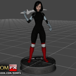 Download 3D printing designs Alita Battle Angel - 3D Printable Action Figure, ROMFX
