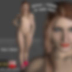 Télécharger modèle 3D Kayla Marie - Jeune actrice porno actrice 3d Figure imprimable, ROMFX