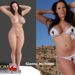 3D print model Gianna Michaels - Adult Porn Star Movies Figure Printable 2 POSES BONUS, ROMFX