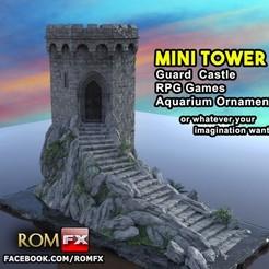 Descargar STL Castillo de la Guardia de la Torre Mini, ROMFX