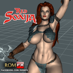 STL files RED SONJA 3D Printing Action Figure, ROMFX