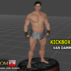 Download 3D printer files Van Damme Kickboxer - 3D Printable Figure, ROMFX
