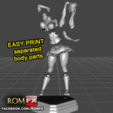 STL file Hot School Girl Without Panties - Figure Printable, ROMFX