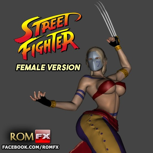 Descargar modelos 3D Street Fighter Vega Versión Femenina - Imprimible, ROMFX