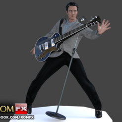 STL files ELVIS the King Figure Printable, ROMFX