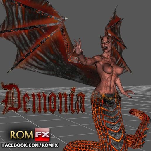 Download 3D printing files Demonia Creepy Figure Printable, ROMFX