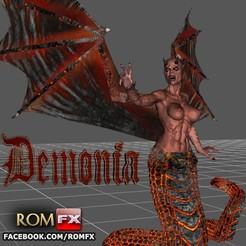 Descargar archivos 3D Demonia Creepy Figura Imprimible, ROMFX