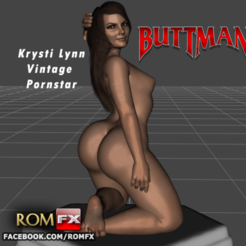 3D printer files Krysti Lynn Buttman's Vintage Pornstar Printable, ROMFX