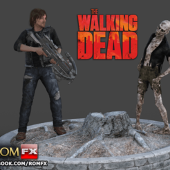 STL files The Walking Dead Diorama Action Figures Printables, ROMFX