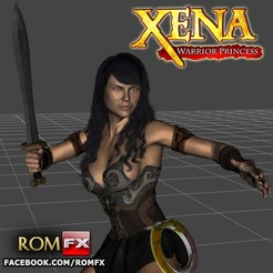 Télécharger fichier imprimante 3D Xena Warrior Princess - Figurine imprimable, ROMFX