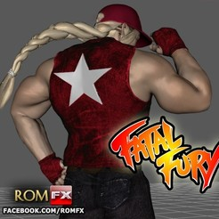 Descargar archivos STL Terry Bogard - Fatal Fury Action Figure Imprimible, ROMFX