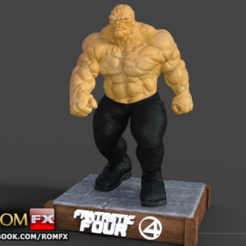 cois 4 fantastico impressao0.png Download STL file The Thing Fantastic Four - Ben Grimm - Printable Figure • Template to 3D print, ROMFX
