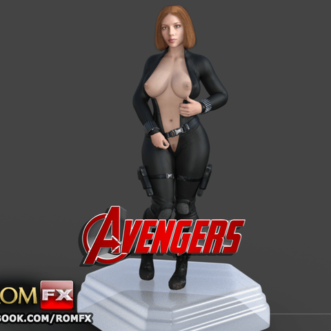 STL Black Widow Avengers Taking off the Battle Clothes, ROMFX