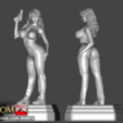 STL file Kascha Vintage Old Classic Porn Actress Figure Printable, ROMFX