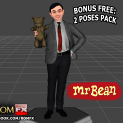 mr bean impressao0.png Download STL file Mr Bean - Rowan Atkinson - Figure Printable • 3D printer object, ROMFX