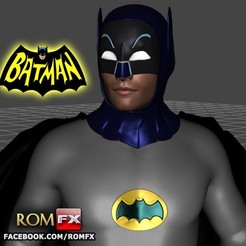 batman tv impressao00.jpg Download STL file Batman TV Show - Adam West - Printable • 3D print object, ROMFX