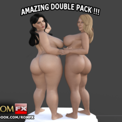 3D printing model Angelina Castro & Sara Jay Double Pornstars Pack Printable, ROMFX