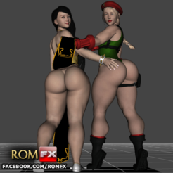 STL Chun-Li & Cammy The Sexy Street Fighters, ROMFX
