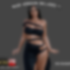 3D print files Kim Kardashian - 3D Figure Printable, ROMFX