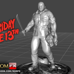 Download 3D printing templates Jason - Friday the 13th, ROMFX