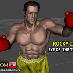Diseños 3D ROCKY III - Sylvester Stallone Figura de acción imprimible - Eye of the Tiger, ROMFX