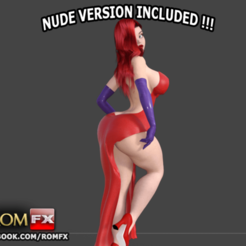 3D printer files Jessica Rabbit the sexy curvaceous Pin Up, ROMFX