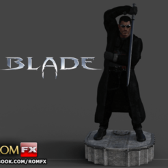 STL file Blade Vampire Hunter - 3D Printable Figure, ROMFX