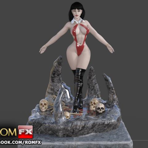 3D printer files Vampirella, the sexiest blood sucker, ROMFX