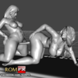 STL Pinky fucks Sara Jay - Lesbian Porn Action, ROMFX