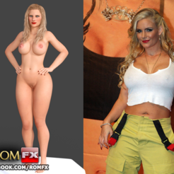 STL file Phoenix Marie - Adult Porn Star Actress Figure Printable, ROMFX