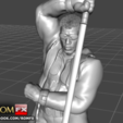 Download 3D printer templates Blade Vampire Hunter - 3D Printable Figure, ROMFX