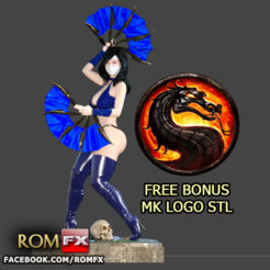 Download 3D printer files Kitana Mortal Kombat Action Figure Printable (FREE BONUS), ROMFX