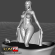 3D print files Kim Kardashian Wet and Naked for You - 3D Printable, ROMFX