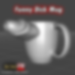 Download 3D model Funny Dick Mug Low Poly, ROMFX